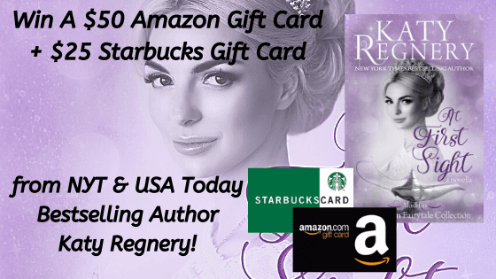 Win A $50 Amazon Gift Card + A $25 Starbucks Gift Card from Bestselling Author Katy Regnery!