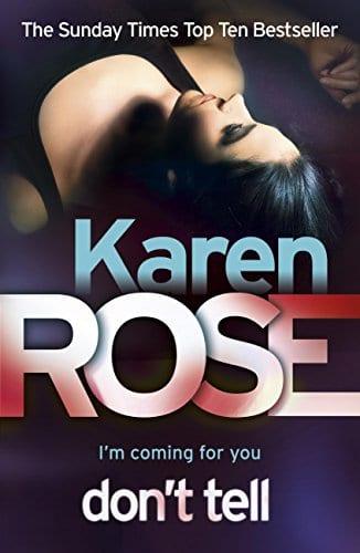 romantic thriller books: don't tell