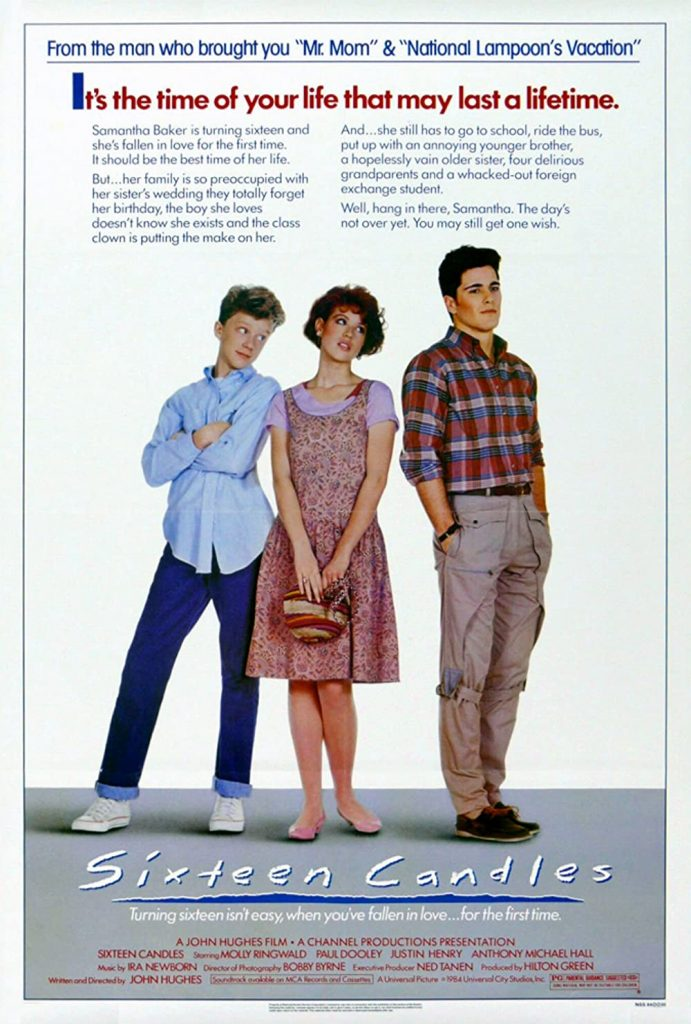 romantic movies 80s: sixteen candles