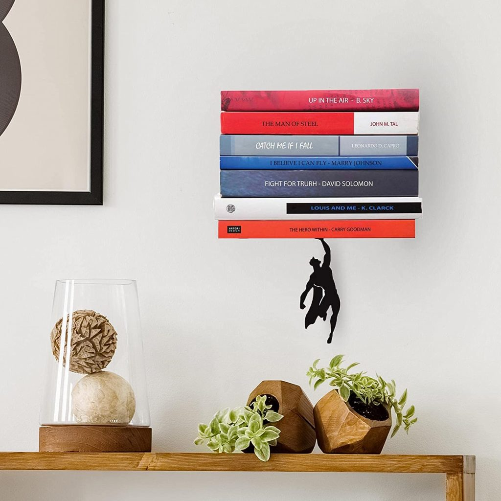 wall book shelves: superman