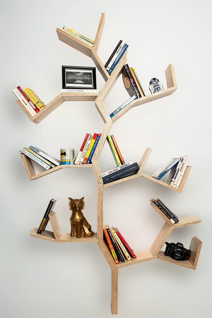 wall book shelves: tree