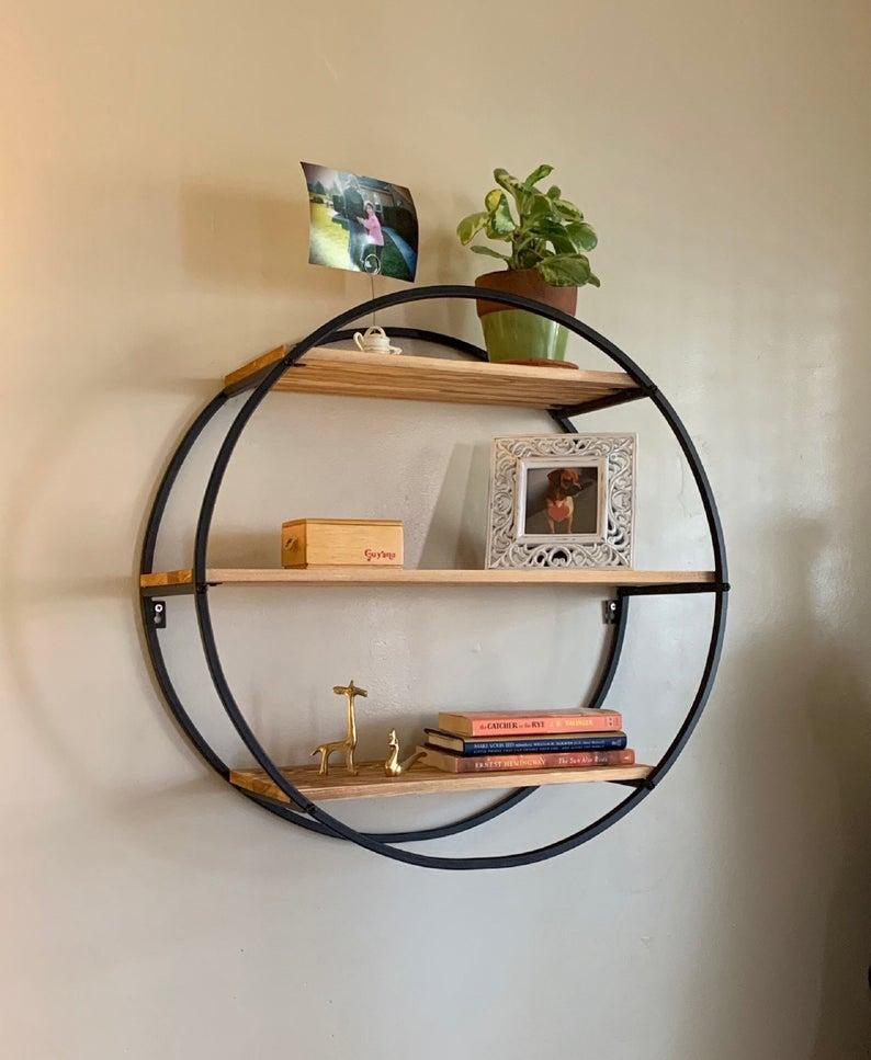 wall book shelves: cirlce