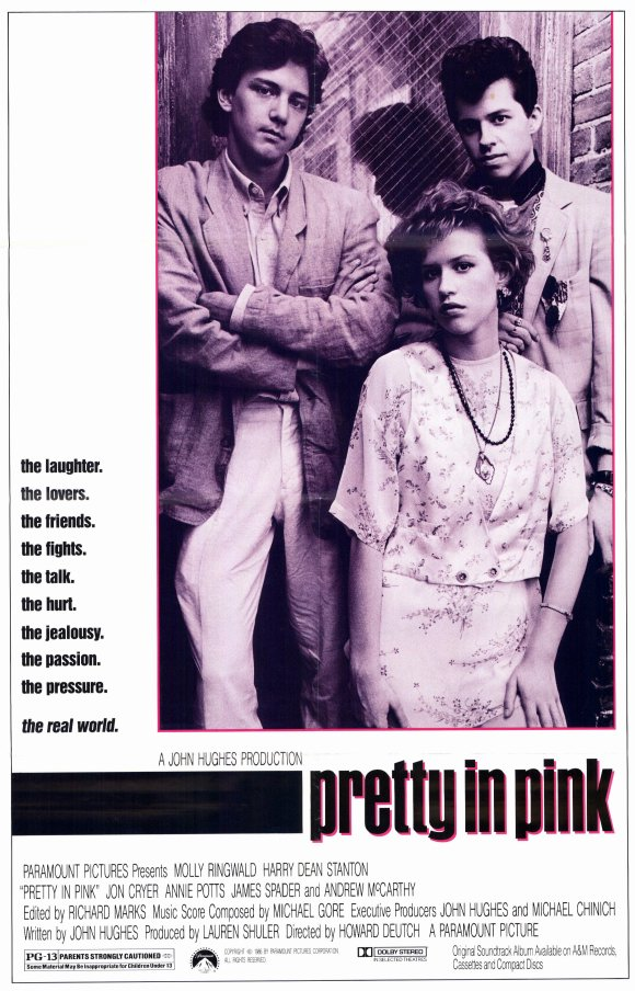 romantic movies 80s: pretty in pink