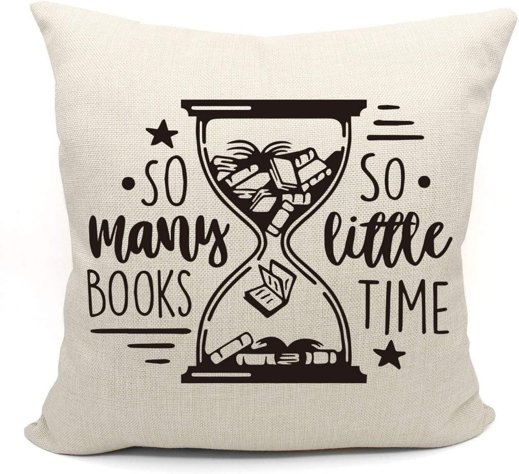 pillows for reading in bed: so many books