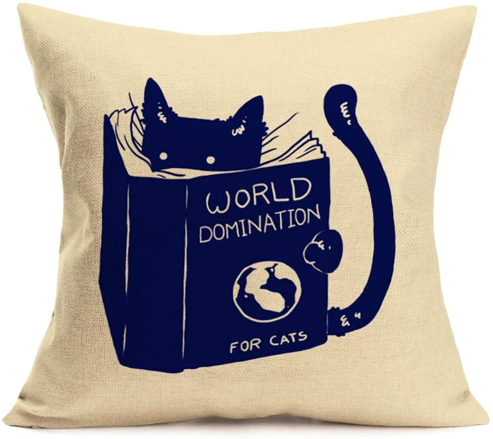 pillows for reading in bed: cats