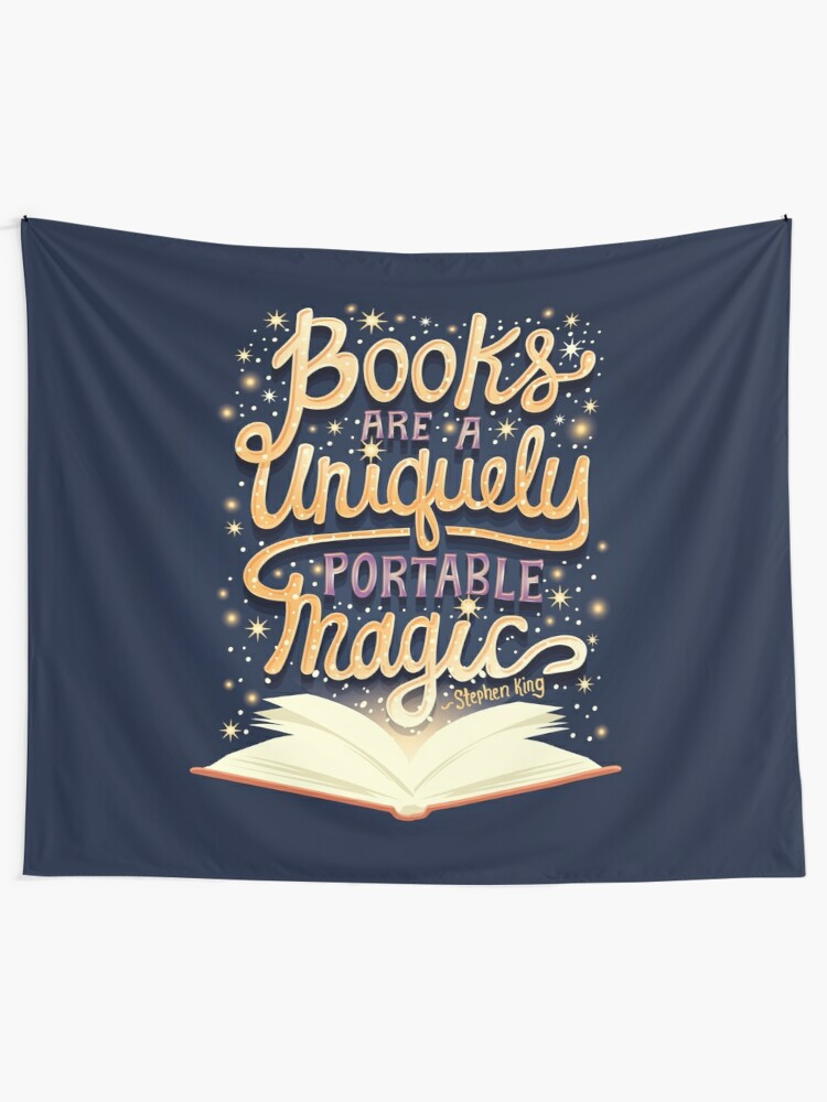 wall art decor: books are uniquely portable magic