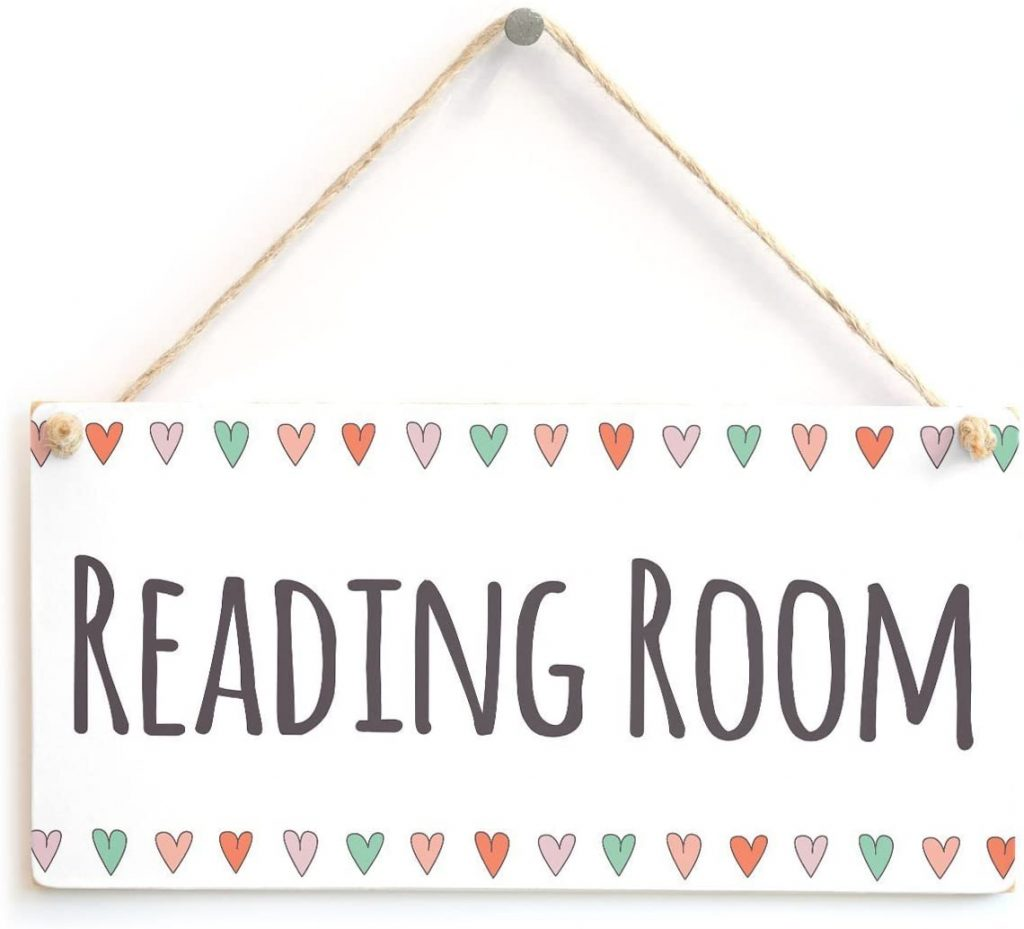 wall art decor: reading room