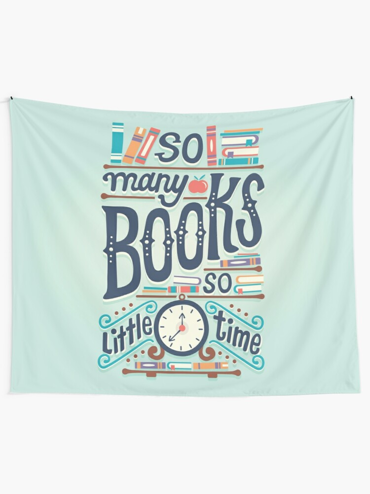 wall art decor: so many books so little time